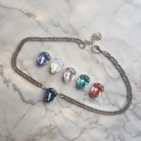 petite crystal choker necklace
