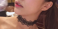 black lace flower vintage choker necklace hrh