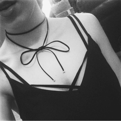 black suede wrap necklace