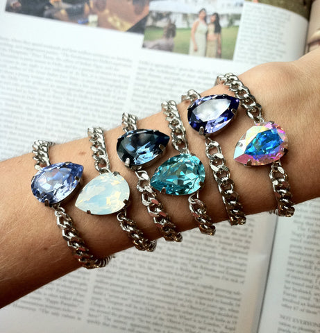 petite pear swarovski crystal bracelets hrh collection