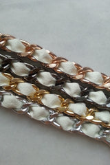 white leather chain bracelets