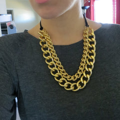 gold chain chunky necklace