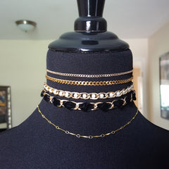gold curb chain jewelry chokers