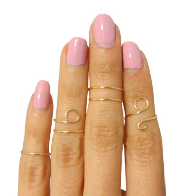 gold plated handmade midi rings non tarnishing