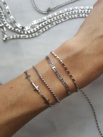 delicate jewelry stainless steel chain bracelets
