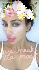 kim kardashian eye and lip collagen mask korean skincare