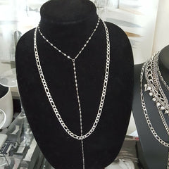 stainless steel layering chain necklace