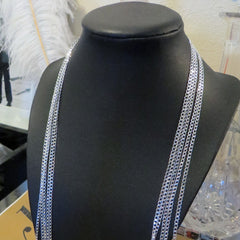 30 inch silver plated layering chain necklace