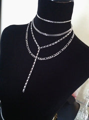 stainless steel layered necklace