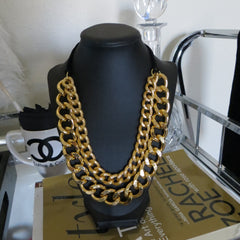 chunky and thick gold statement necklace