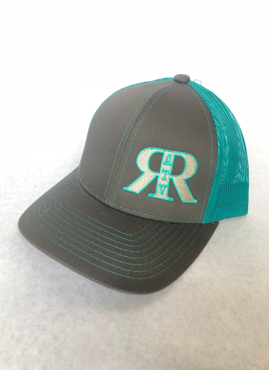 River Run ATV Park Charcoal & Aqua Platinum Series Snap Back Hat - ProSport Outdoors