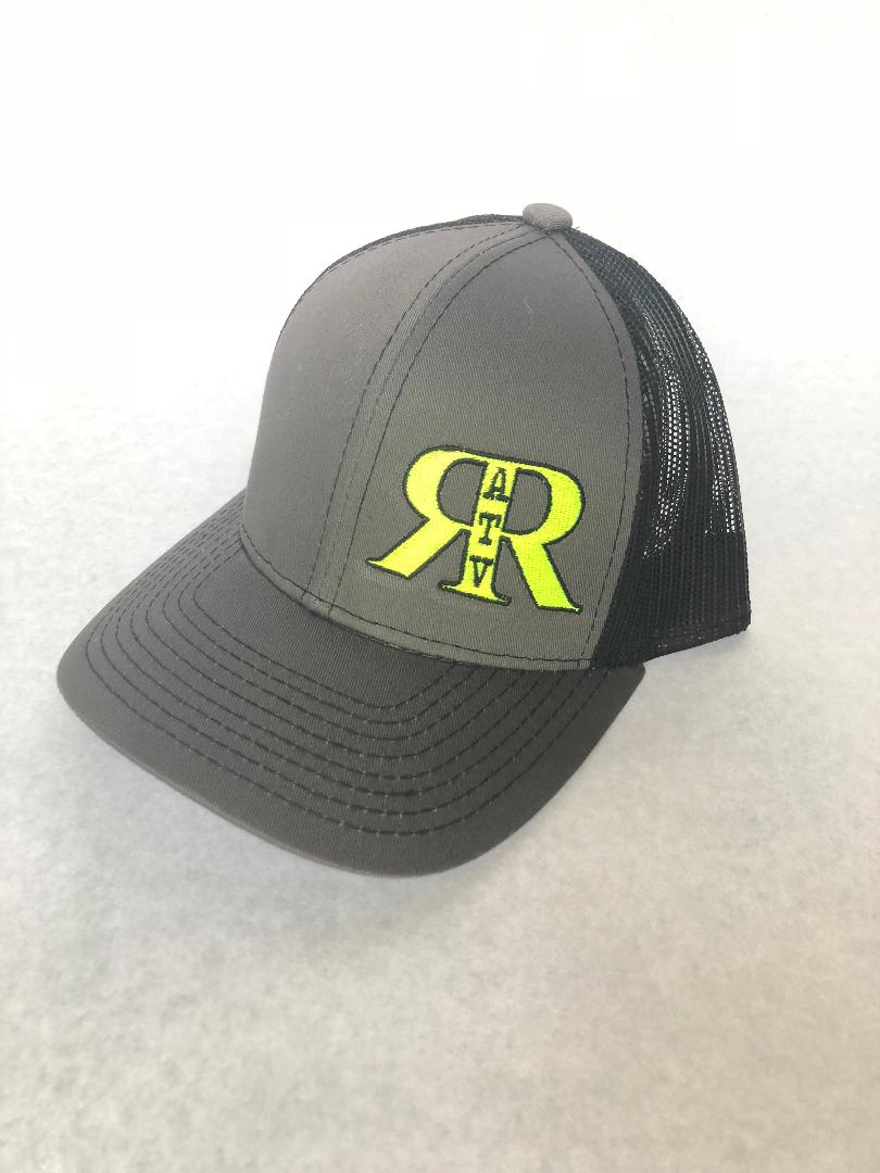 River Run ATV Park Charcoal & Black Platinum Series Snap Back Hat with Neon Yellow Logo - ProSport Outdoors