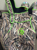 Womans ProSport Waders in Mossy Oak Shadow Grass with Neon Green Trim - ProSport Outdoors