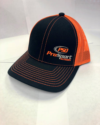 ProSport Outdoors Black & Neon Orange Platinum Series Snap Back Hat - ProSport Outdoors