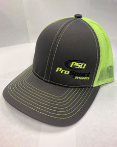ProSport Outdoors Charcoal & Neon Yellow Platinum Series Snap Back Hat - ProSport Outdoors