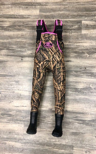 Youth Mossy Oak Shadow Grass Camo & Pink ProSport Waders - ProSport Outdoors