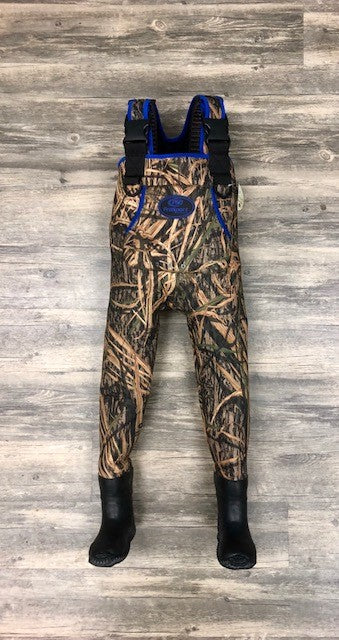 Youth Mossy Oak Shadow Grass Camo & Blue ProSport Waders - ProSport Outdoors