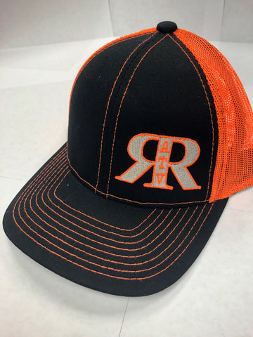 River Run ATV Park Black & Neon Orange Platinum Series Snap Back Hat - ProSport Outdoors