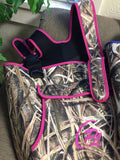 Womans ProSport Waders in Mossy Oak Shadow Grass with Pink Trim - ProSport Outdoors