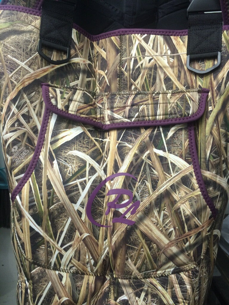 Womans ProSport Waders in Mossy Oak Shadow Grass with Purple Trim - ProSport Outdoors