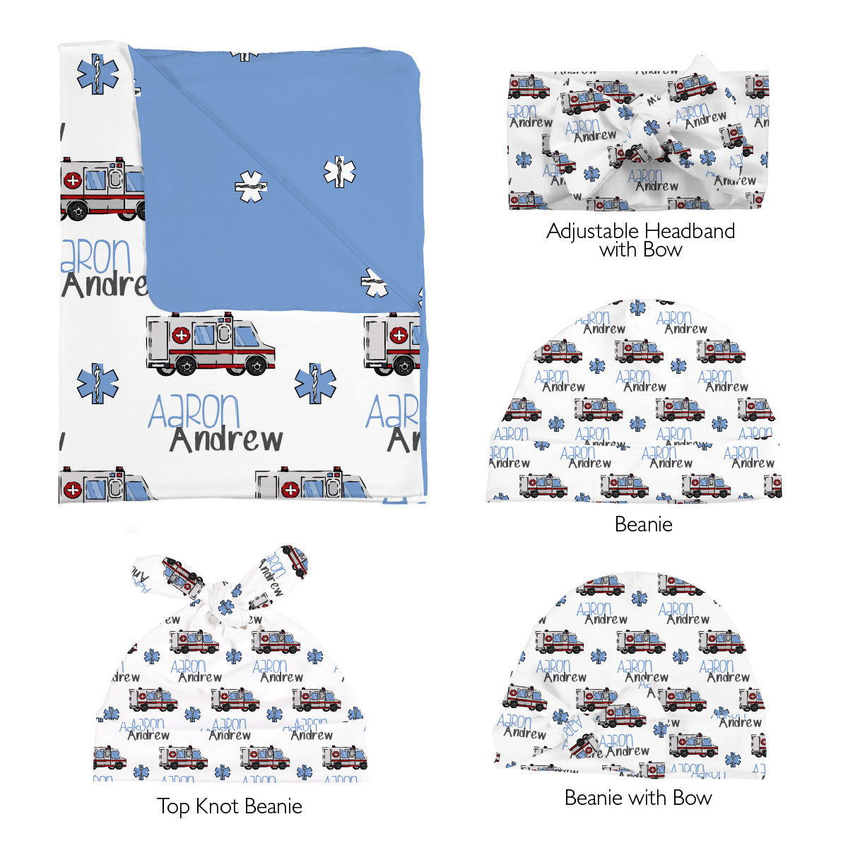 Aaron's Speedy Ambulance | Swaddle Set