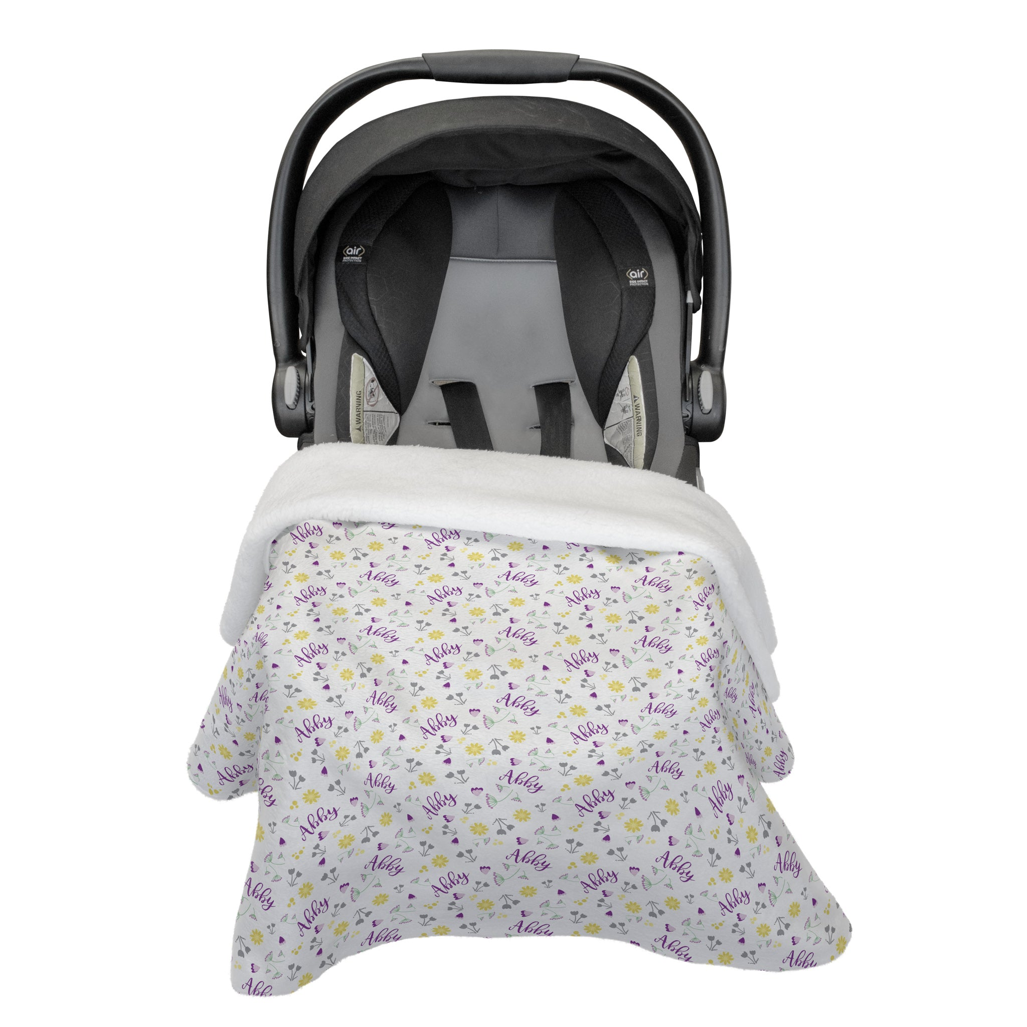 Abby's Wildflower | Rose Garden | Car Seat Blanket