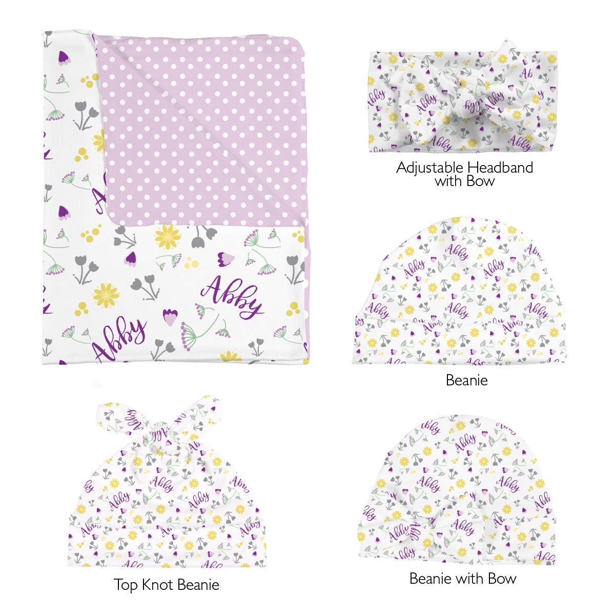 Abby's Wildflower | Swaddle Set