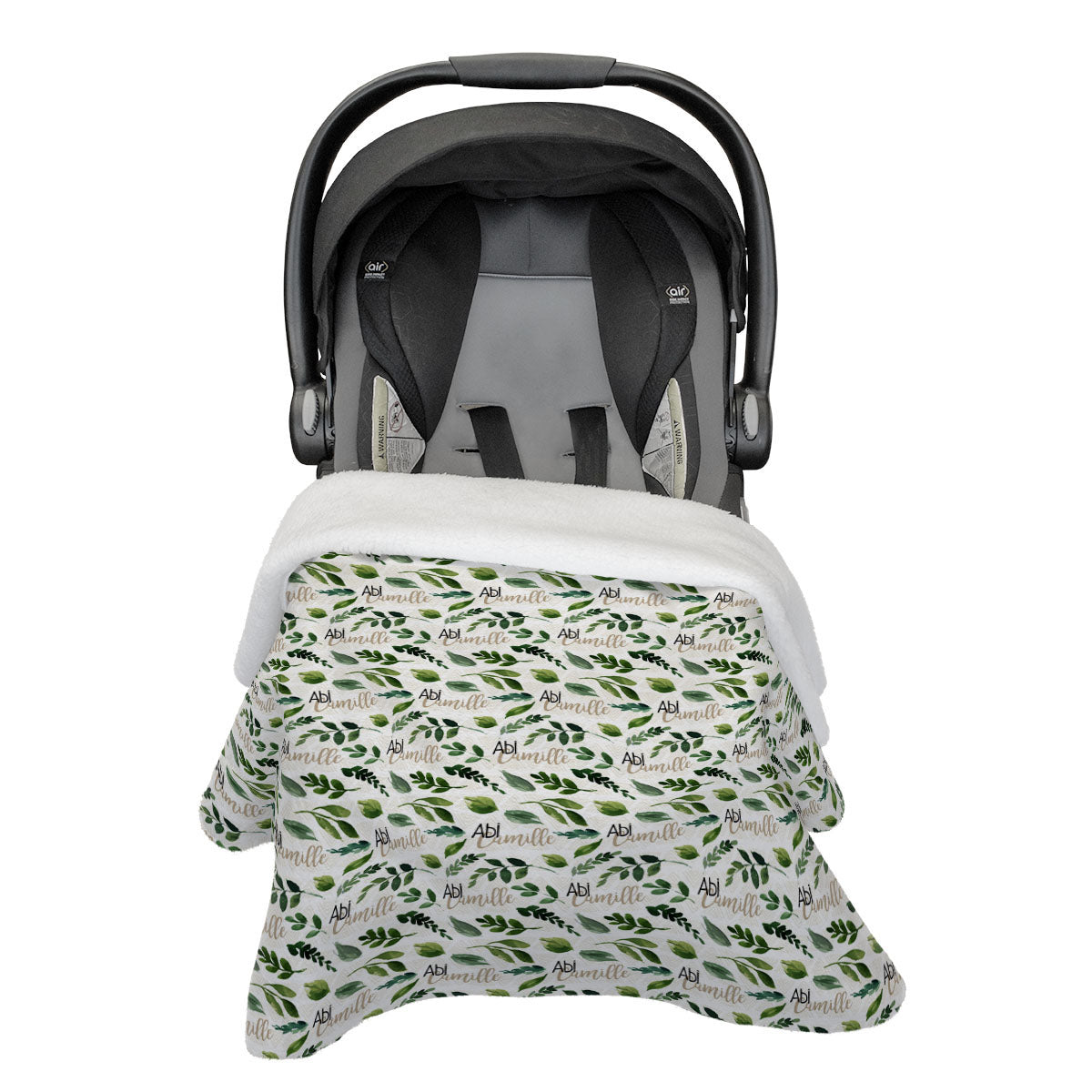 Abi's Sketchy Greenery | Rose Garden | Car Seat Blanket