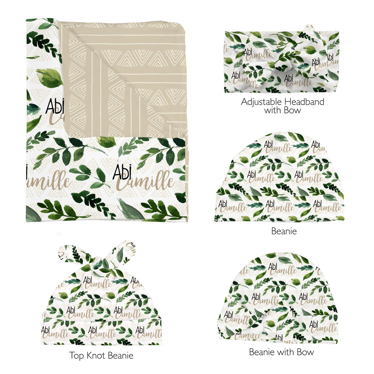 Abi's Sketchy Greenery | Swaddle Set