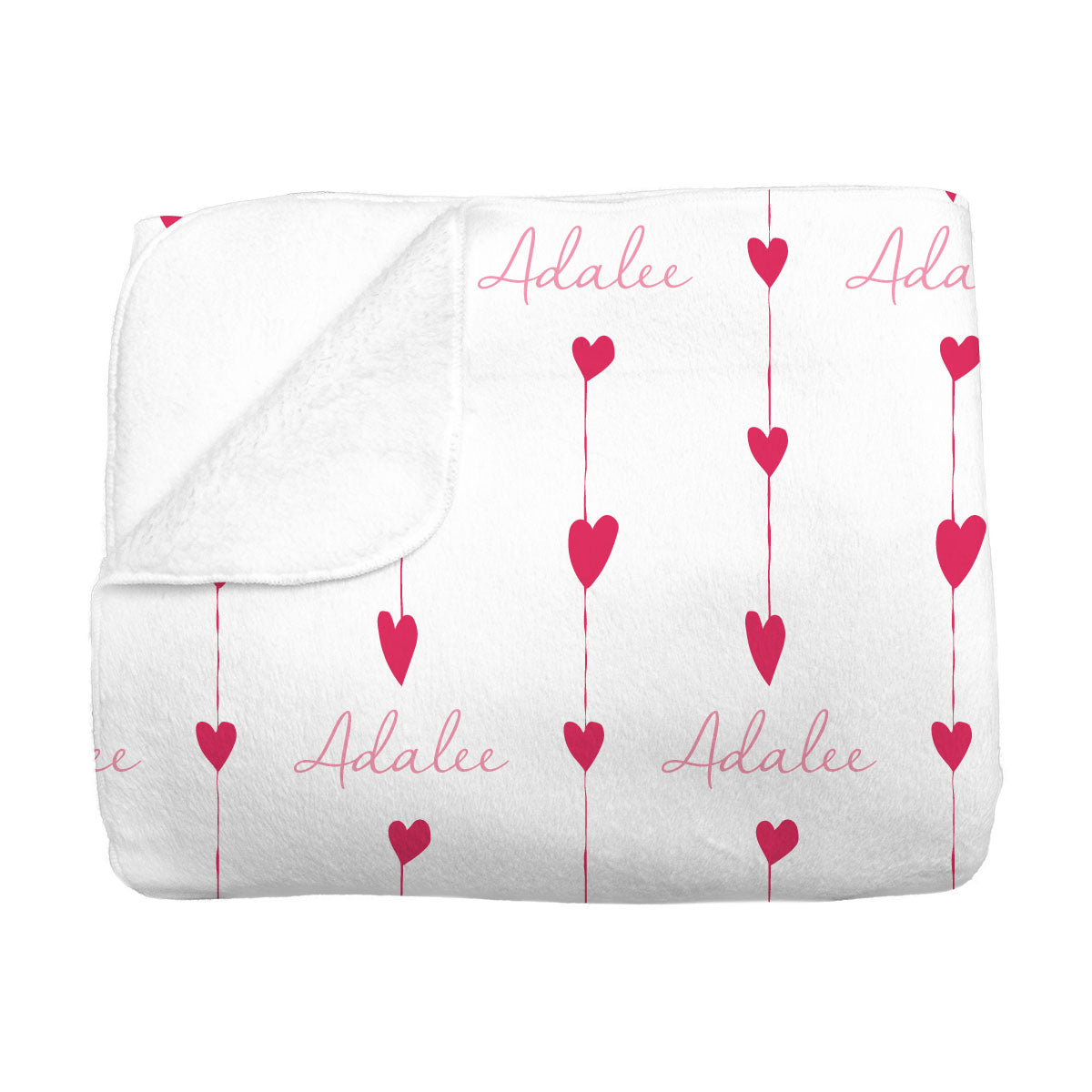 Adalee's Valentine Hearts | Big Kid Blanket