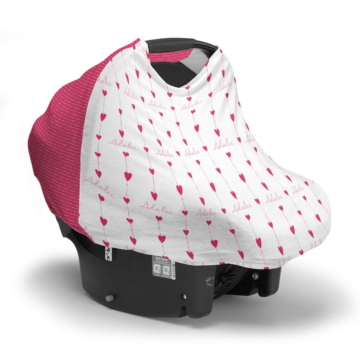 Adalee's Valentine Hearts | Car Seat Cover (Multi-Use)