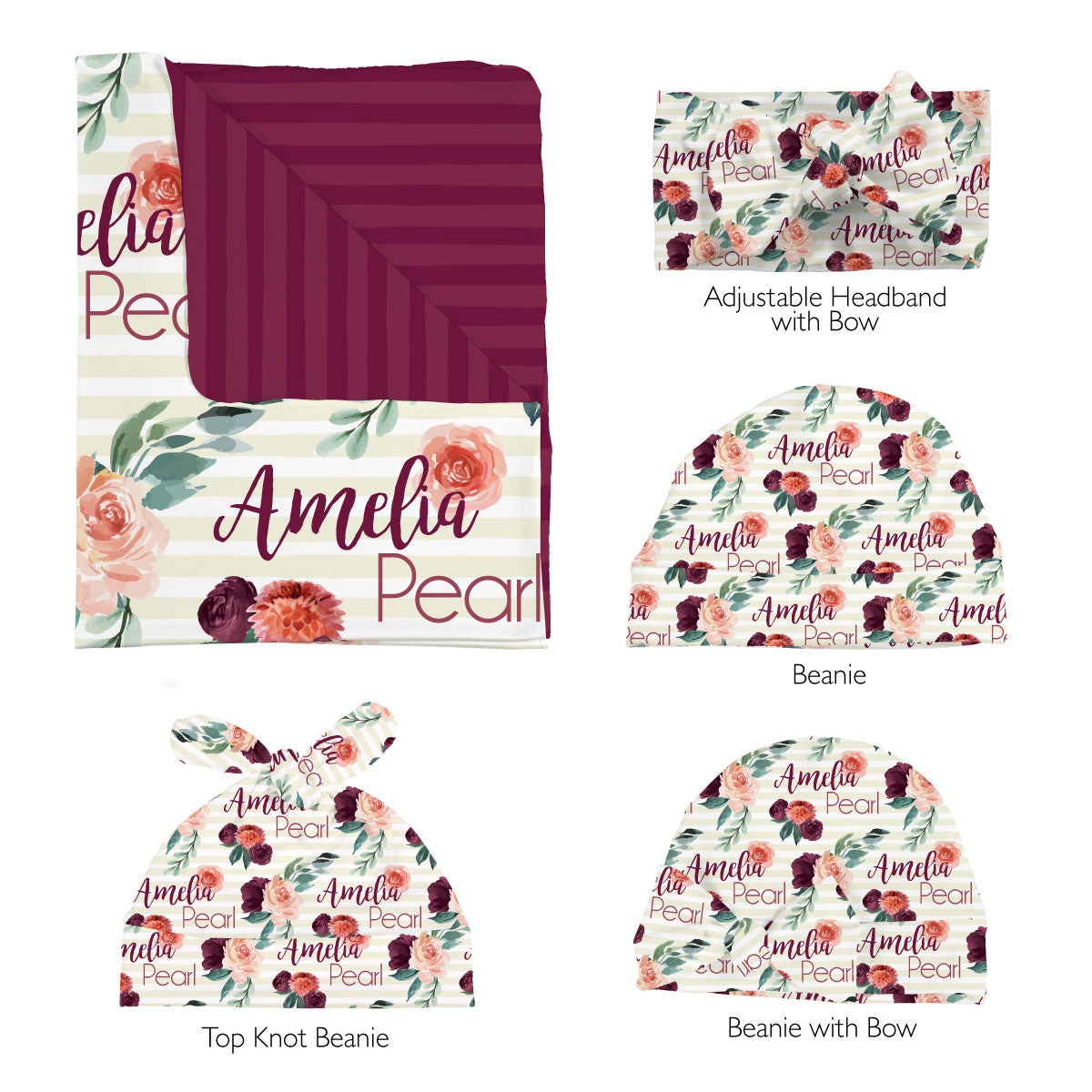 Alice's Autumn Rose | Swaddle Set