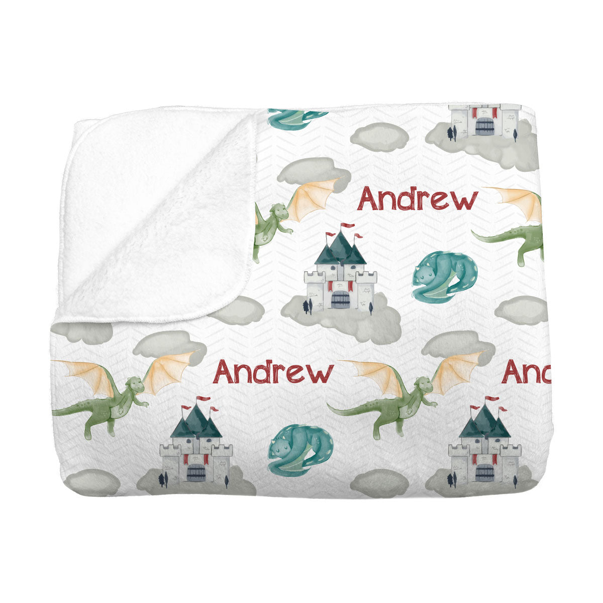 Andrew's Castle and Dragons | Big Kid Blanket