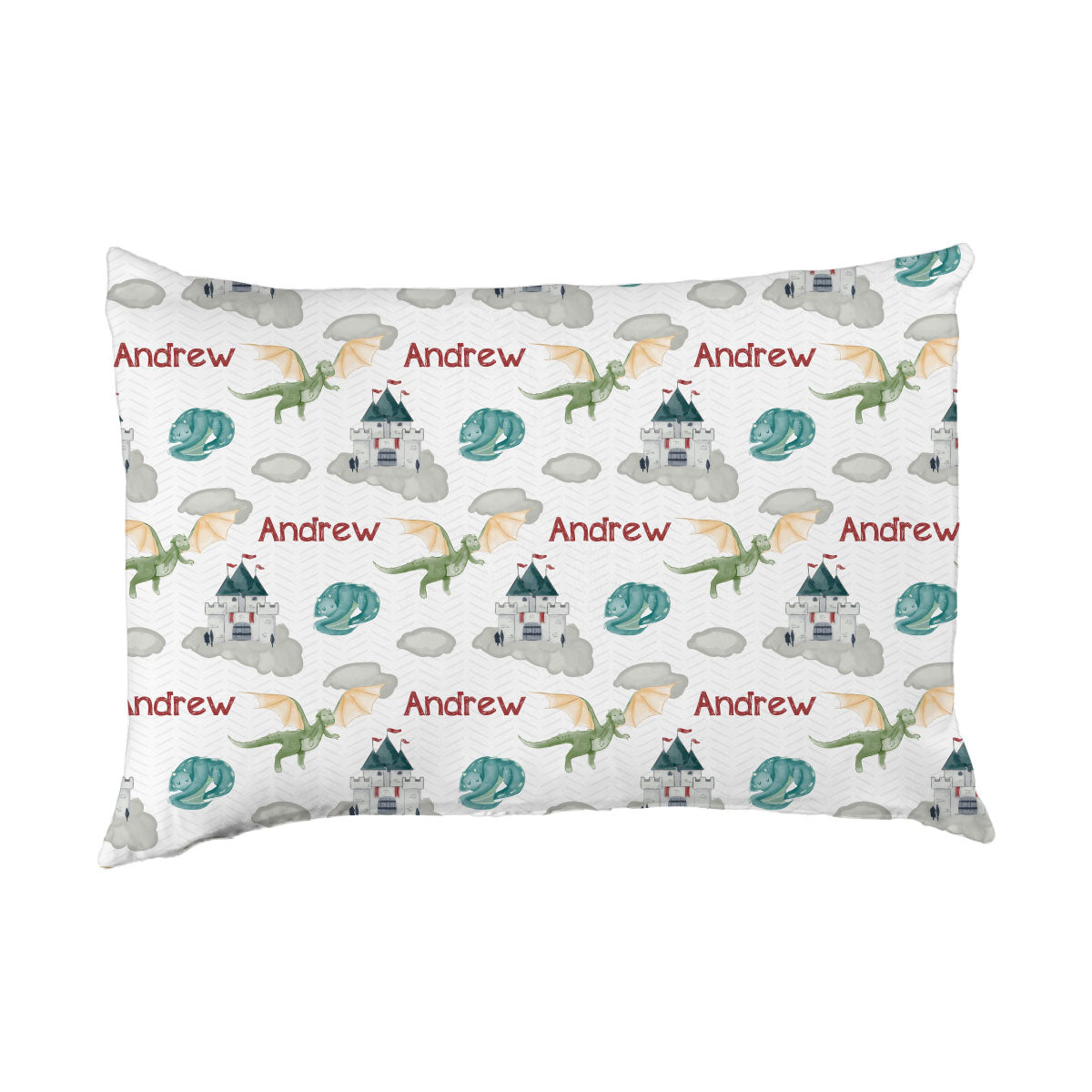 Andrew's Castle and Dragons | Big Kid Pillow Case