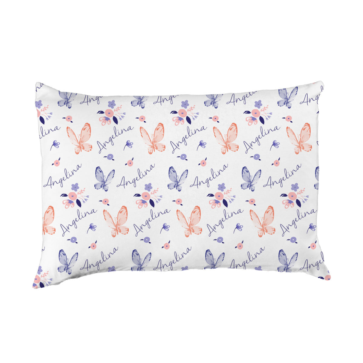 Angelina's Summer Butterfly | Big Kid Pillow Case
