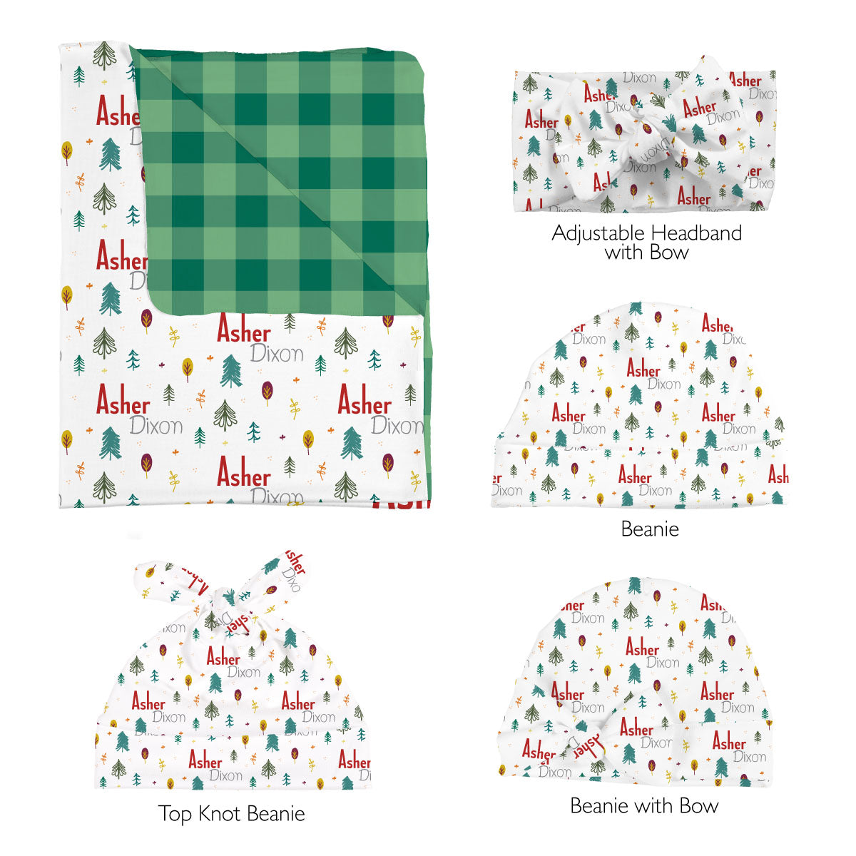 Asher's Autumn Forest | Swaddle Set
