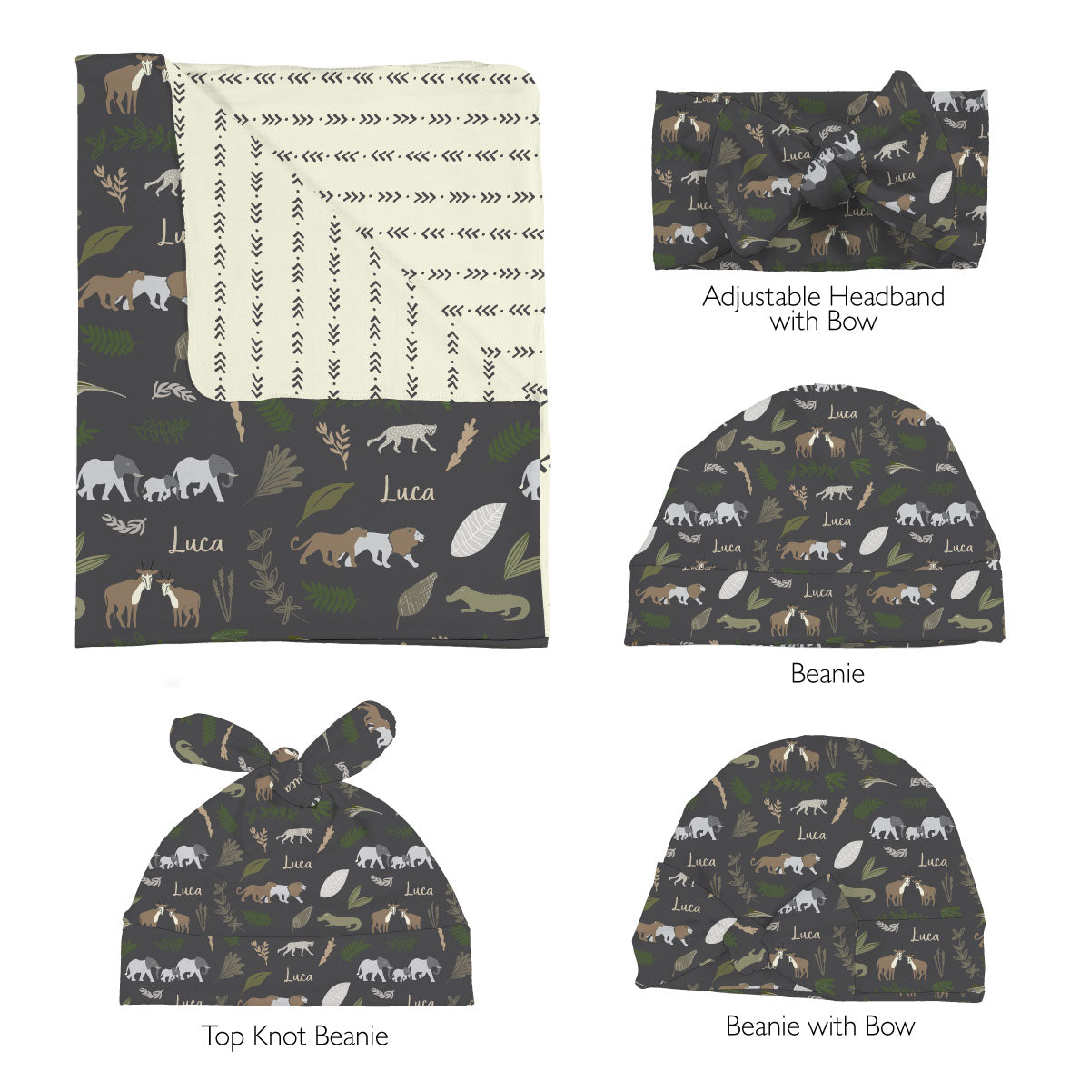 Azizi's Safari | Swaddle Set