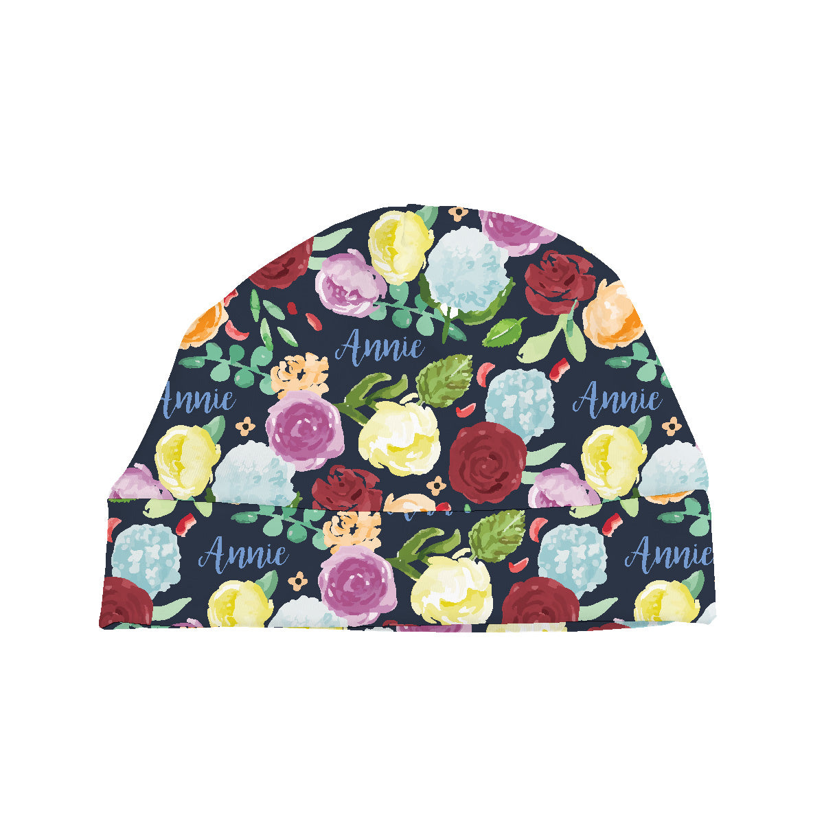 Bella's Painted Peony Rainbow | Baby Hat