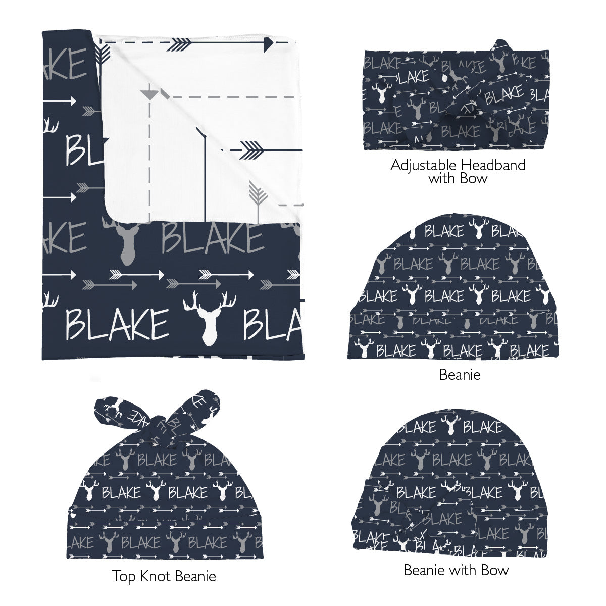 Blake's Buck and Arrows | Swaddle Set
