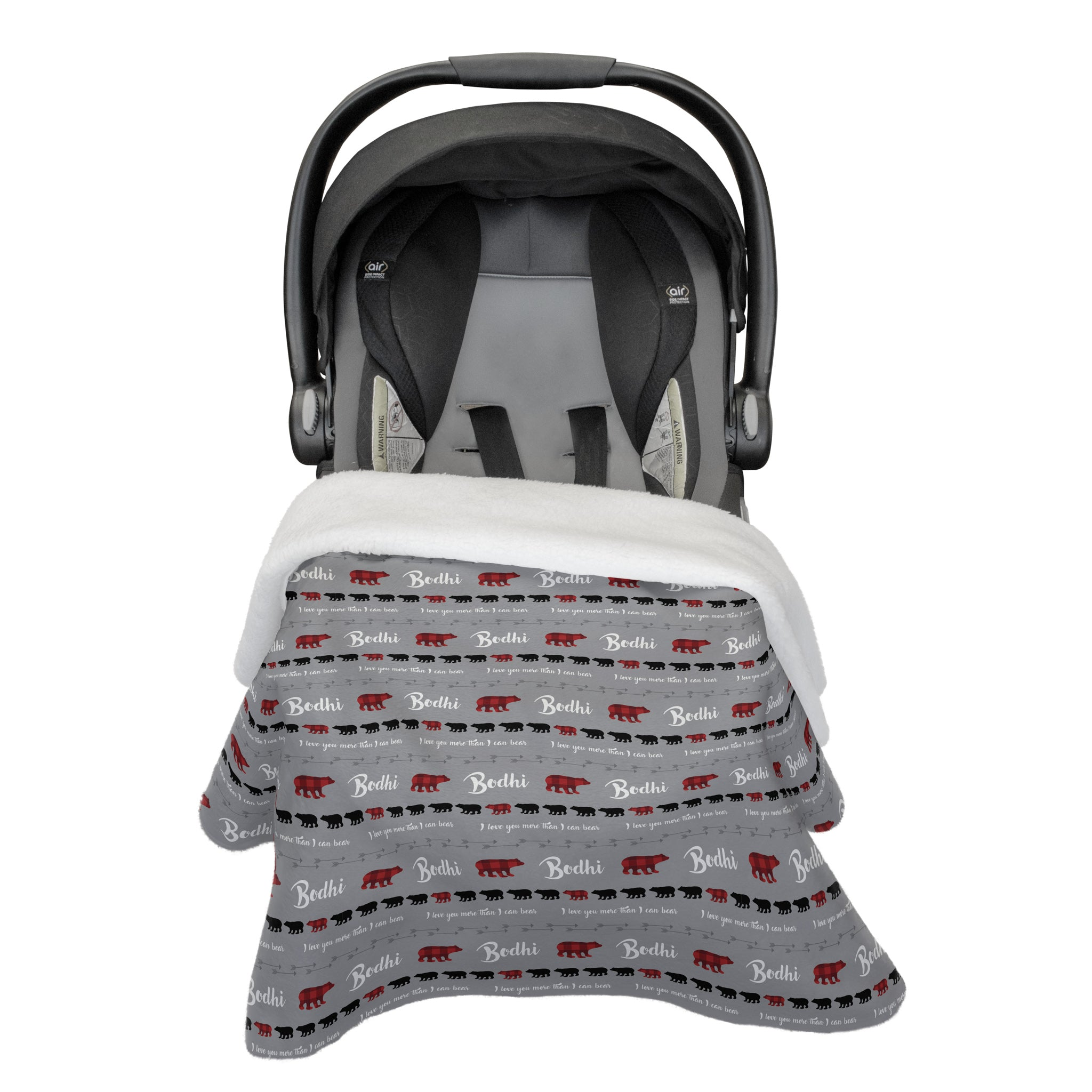 Bodhi's Bear Mountains Are Calling | Rose Garden | Car Seat Blanket