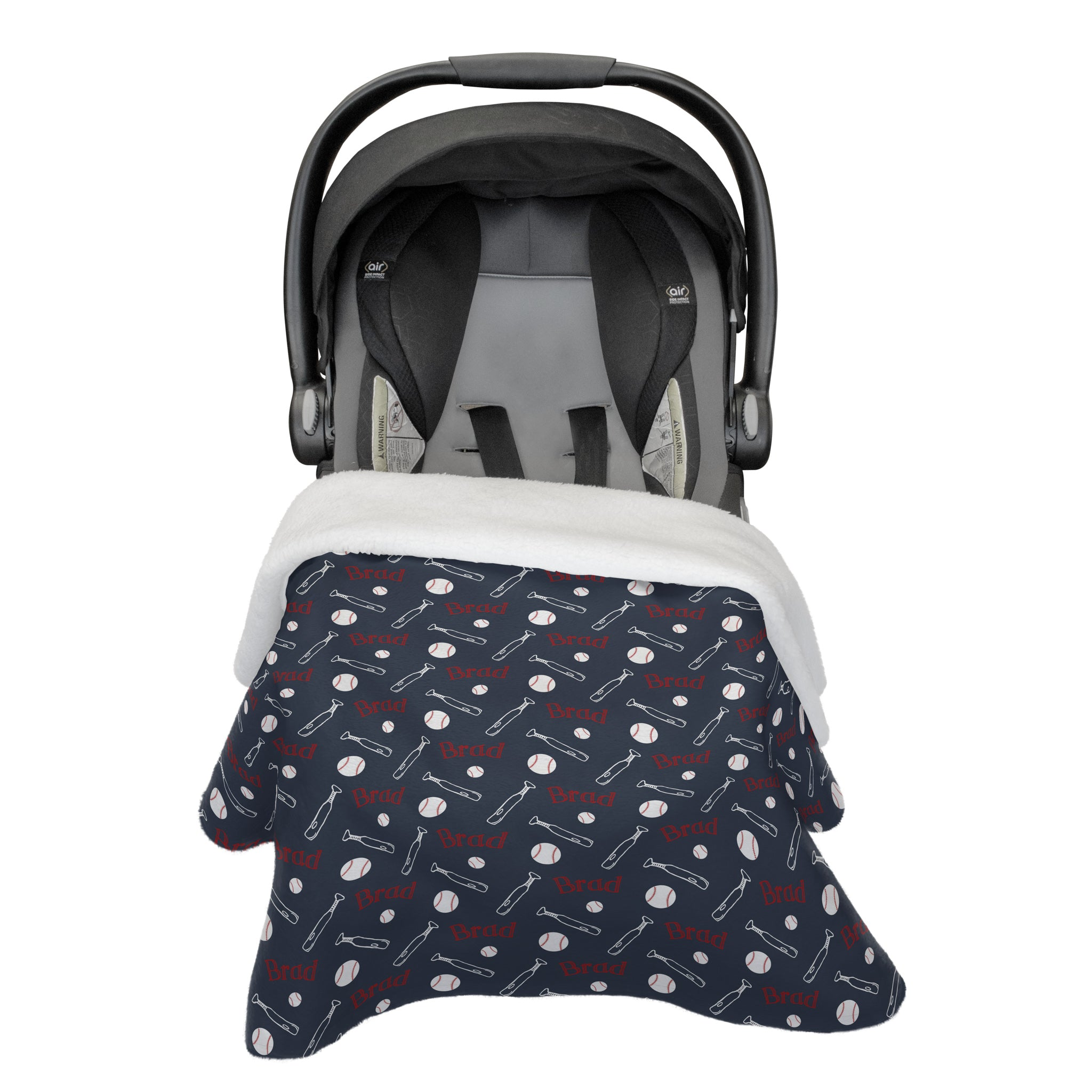 Brad's Baseball League | Car Seat Blanket