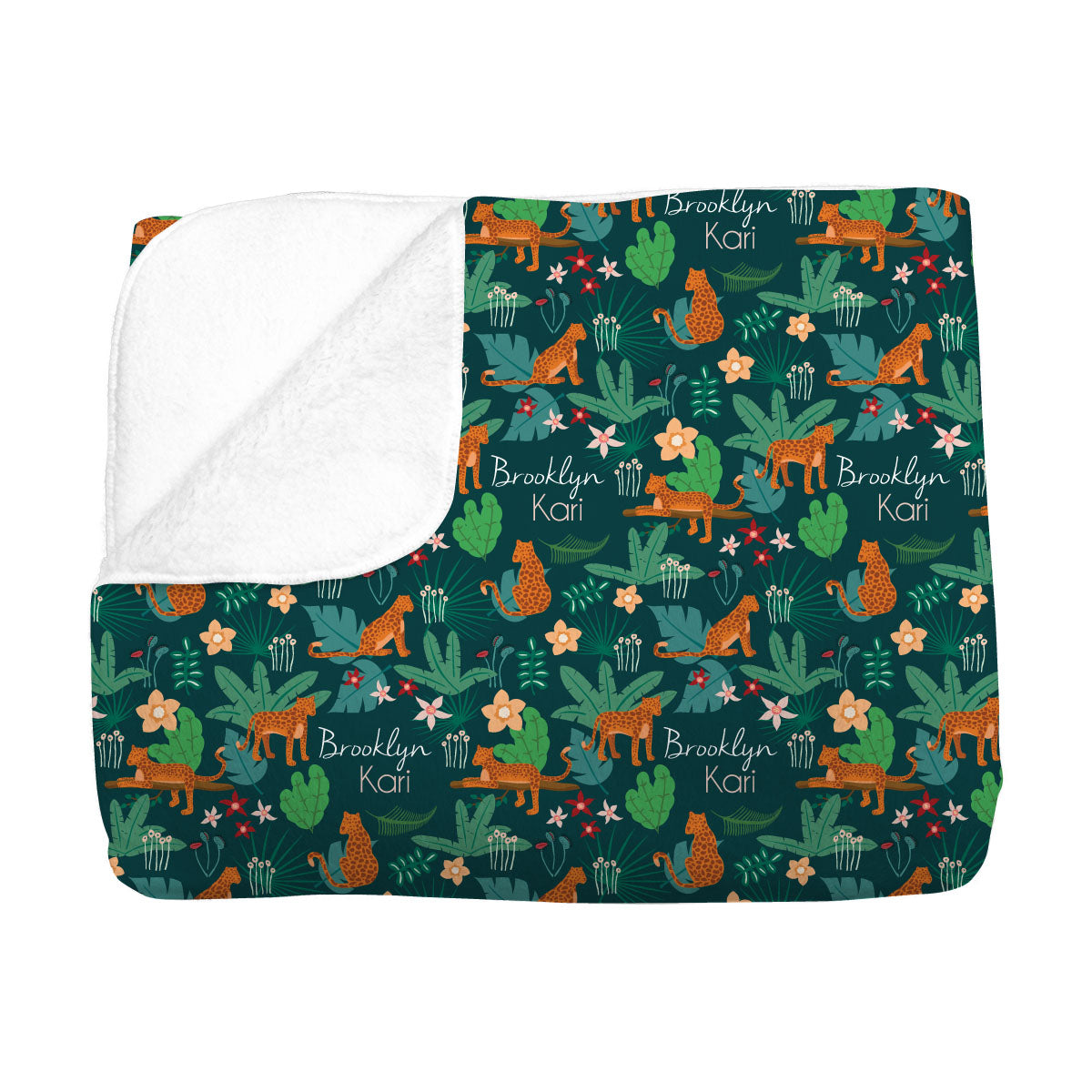 Brooklyn's Jungle Cats | Big Kid Blanket