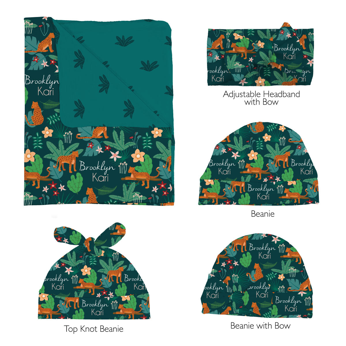 Brooklyn's Jungle Cats | Swaddle Set