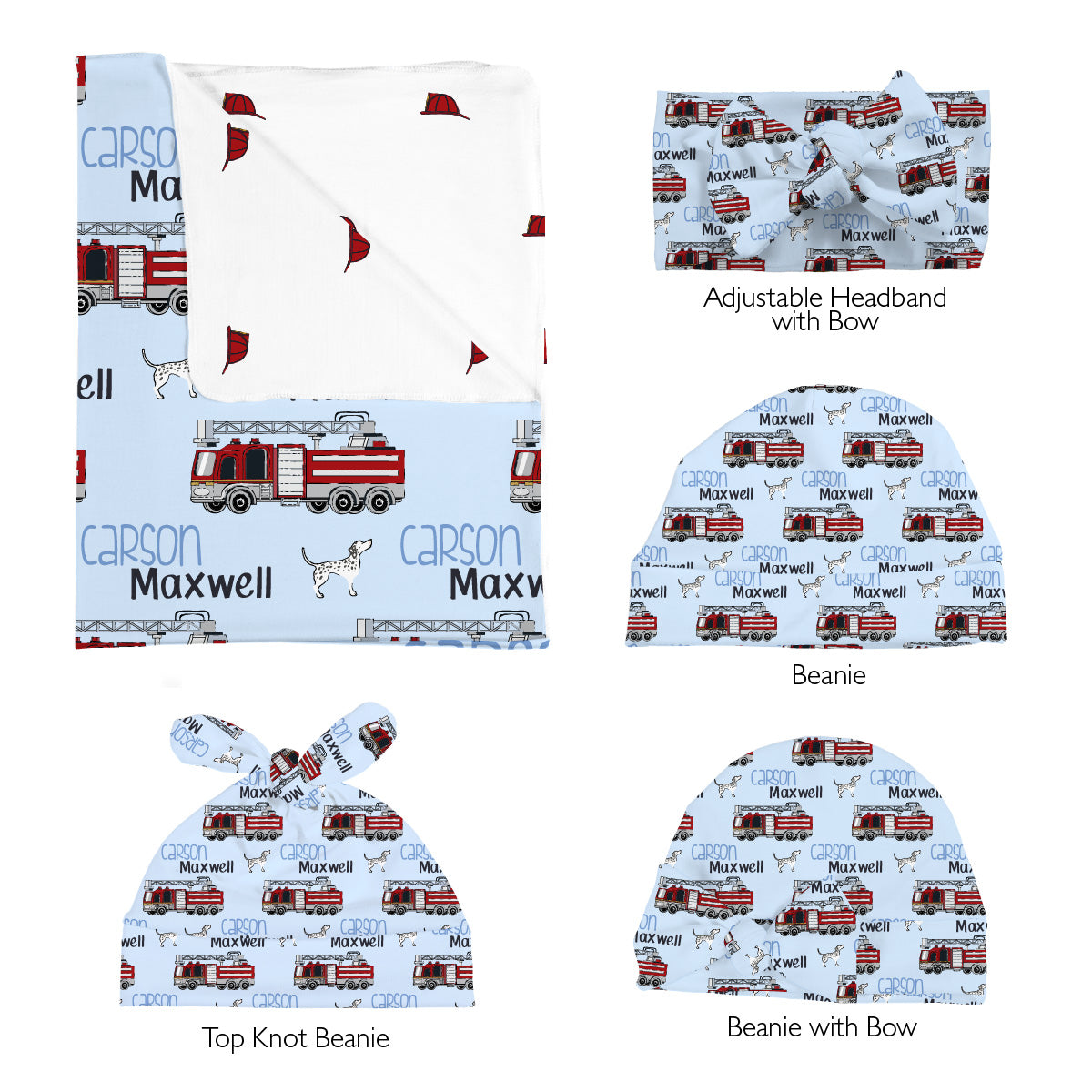 Carson's Fire Engine | Swaddle Set
