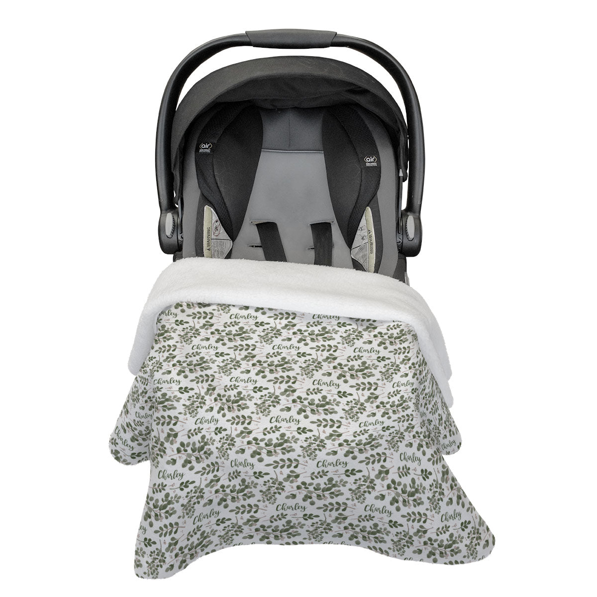 Charley's Farmhouse Greenery | Car Seat Blanket