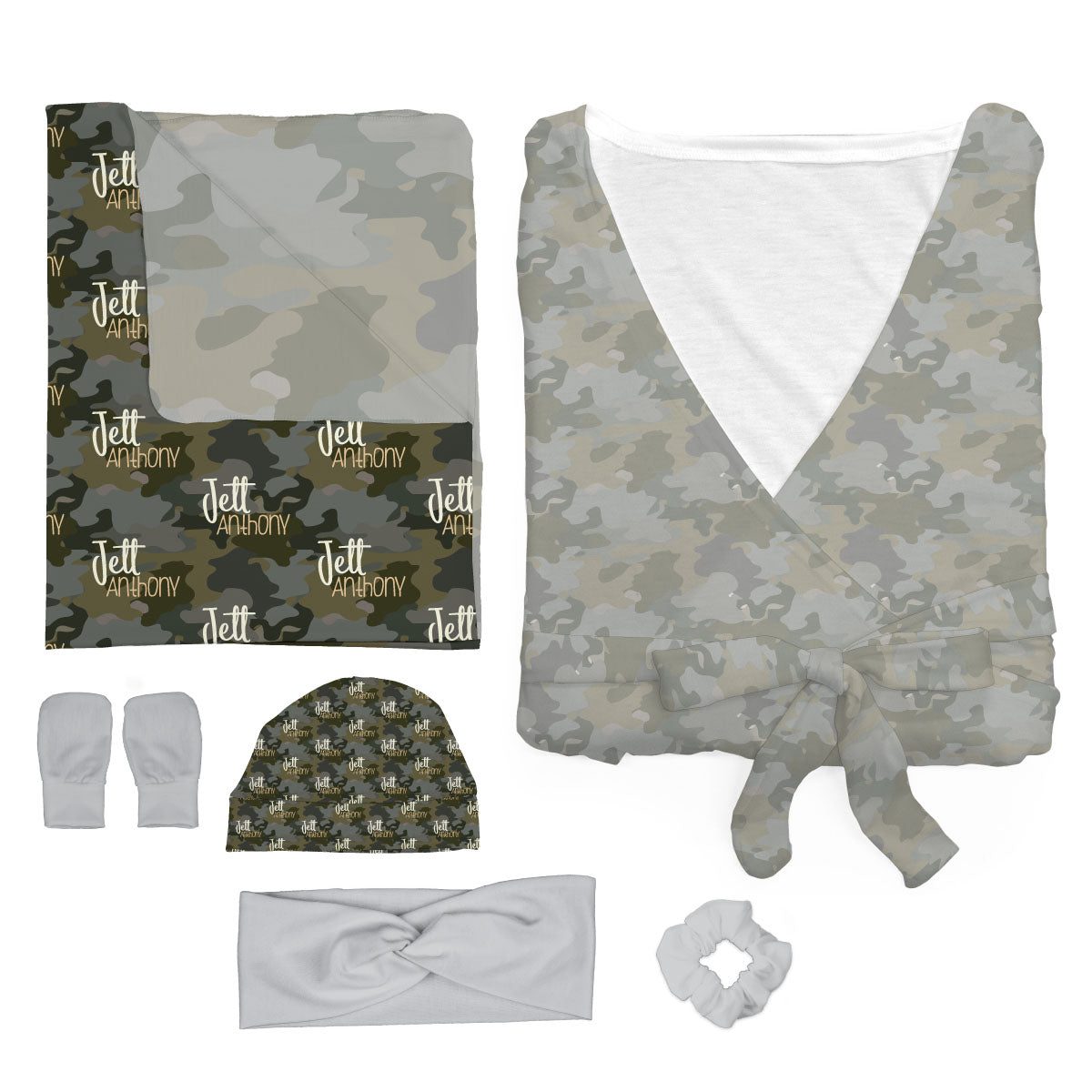 Crew's Woodland Camo | Mommy and Me Bundle