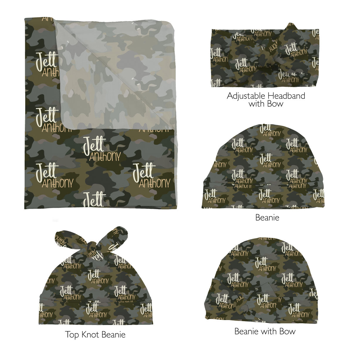 Crew's Woodland Camo | Swaddle Set