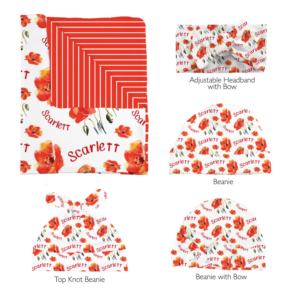 Eleanor's Poppies | Swaddle Set