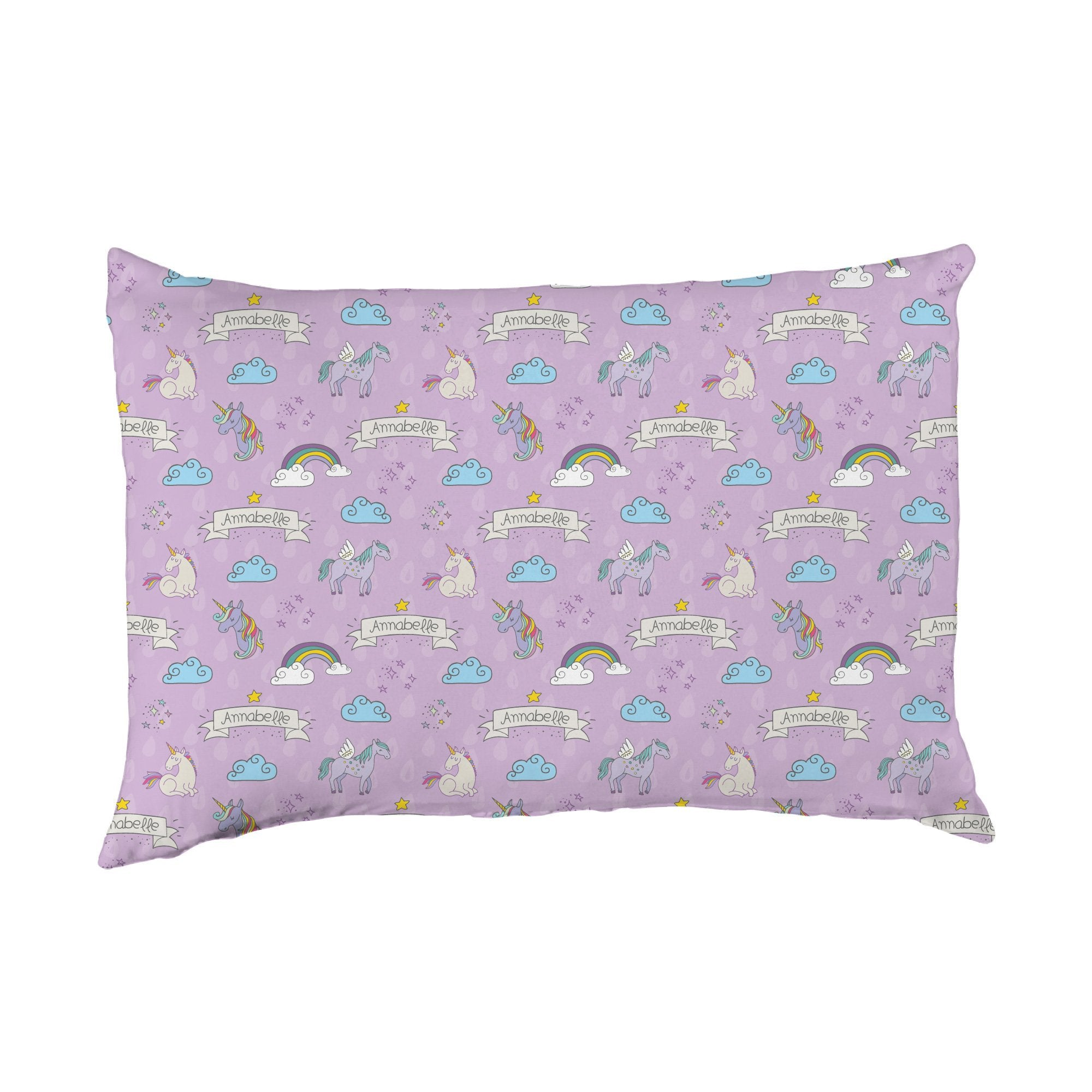 Ember's Unicorn and Rainbows | Big Kid Pillow Case