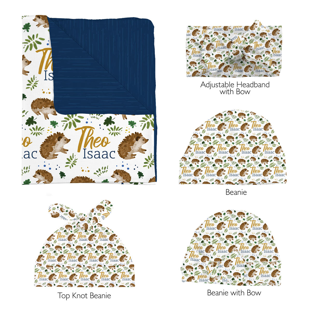 Forest Hedgehogs | Swaddle Set